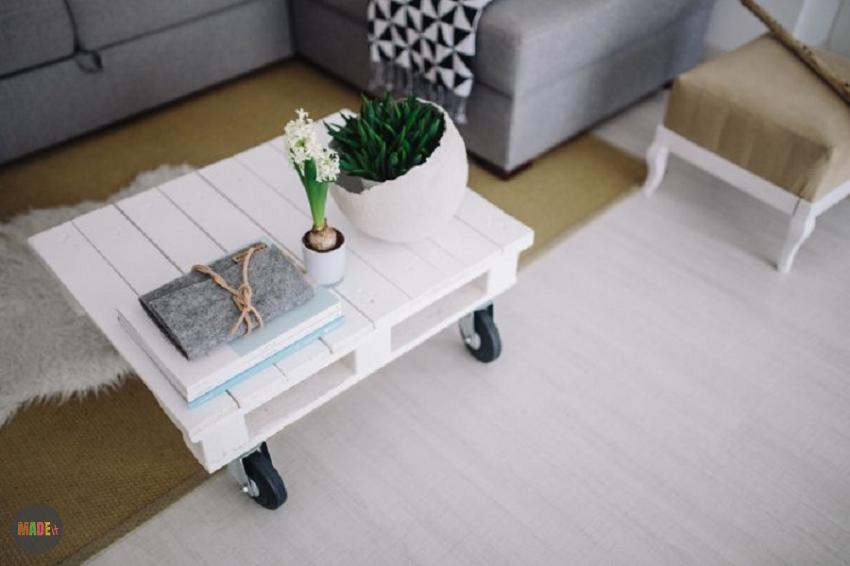 תמונת מדריך שולחן עץ על גלגלים